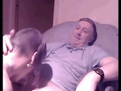 young skinhead beauty sucking off an old guy