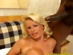 sexy aged blonde take a giga dark pounder in
