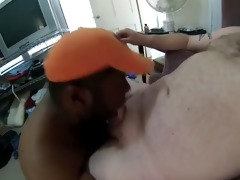white daddy facefucks darksome mouth admirable