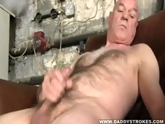 hairy and horny dad jerking