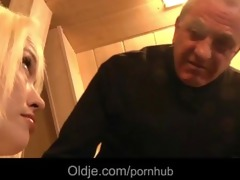 big weenie oldman john fucks horny youthful blond