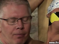 naked chaps slave boy made to squirt
