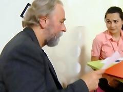 cute schoolgirl fucked by her tricky old teacher