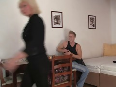 he is bangs her old cum-hole