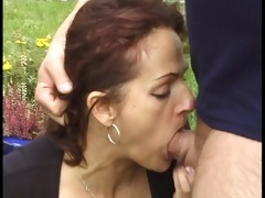 gardner ploughs her flower garden