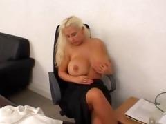 julia miles masturbating in the officw