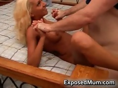 charming golden-haired mama gratifying her stud