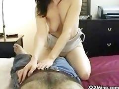 brunette slut riding jock while smokin