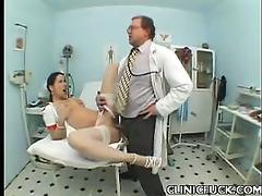pretty nurse rides ramrod
