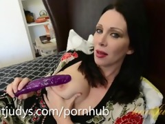 rayveness goes wild with a purple fake penis