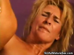horny older woman fucking a younger guy