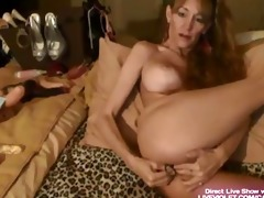 petite older megan bonks her sweet holes with toys