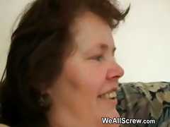 younger chap dildos old womans booty and bonks her