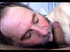 bearded daddy blows him