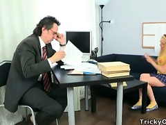 suzy helped her tutor to relax by sucking his rod.