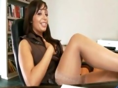 busty cougar office sex