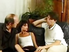 french family fucking three-some