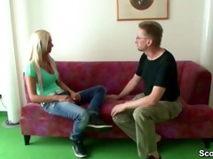 german amateur teen get fucked by the father of
