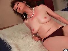 sex starved granny bonks her toy boy