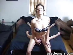 concupiscent old mistress got booty licked by a