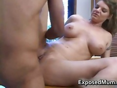 beautiful knockers mother plays with coon part4