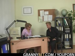 hot office sex with older lady