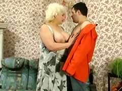 mature sexy blond russian granny receives it good.