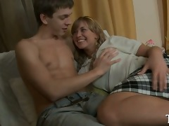 busty legal age teenager gets a hard ride