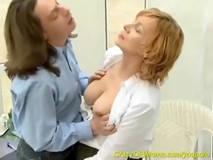 red head mamma likes young cockes