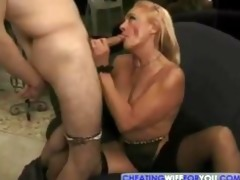 blonde mature kathy jones enjoys sucking and
