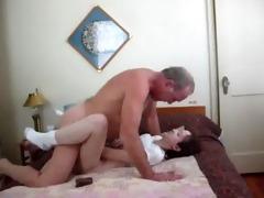 grandad screwed his granddaughter very hard