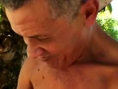 ugliest old dude fucks plump mature in woods