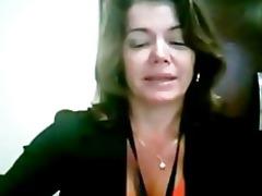 teacher show her body in web camera