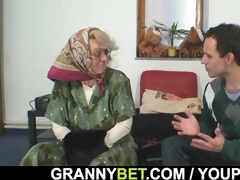 grandma pleases an young lad