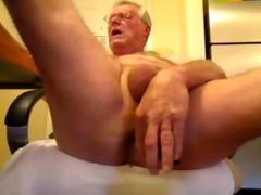 kinky oldman solo cock and booty fun