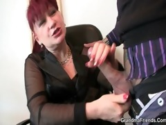 office lady pleases cocks