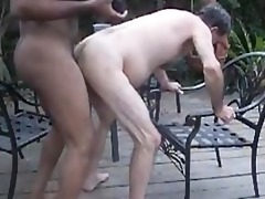 gbm bonks mature white guy raw on patio