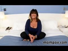 big tits older housewife making st video