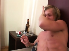 cleaning woman rides his horny rod