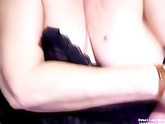 aged big beautiful woman trish plays with her old