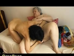 old chubby granny has pleasure with old sexy