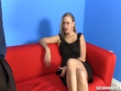 mature woman jerks a concupiscent young lad