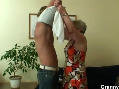 lonely granny gets fucked in various positions