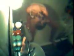 watch my sister shaving pussy. hidden cam