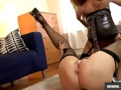 blonde getting her vagina sucked by cutie