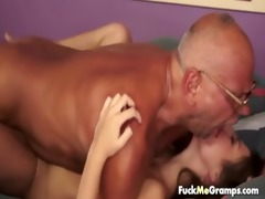 horny old grandpa gets lucky