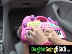 hawt daughter schlong engulf and interracial fuck