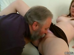maria lets an old boy fuck her and then gets her
