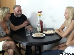 her twat is fucked by her bfs parents