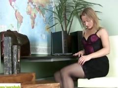 d like to fuck trinity masturbates on desk